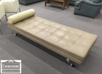 7181-16 - Lind Furn Cont Tan Leather Daybed
