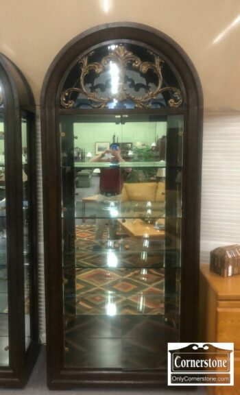 7194-3 - Arched Top Curio Cabinet