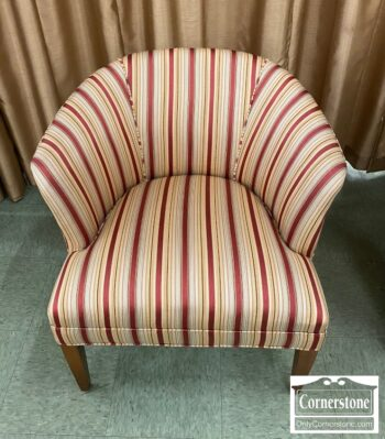 7217-4 - Red Gold Stripe Club Chair