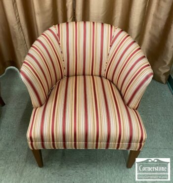 7217-5 - Red Gold Stripe Club Chair