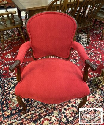 7217-7 - Red French Style Arm Chair
