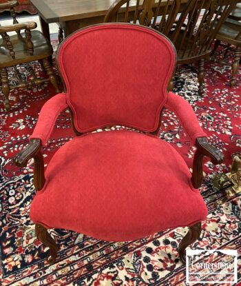 7217-8 - Red French Style Arm Chair