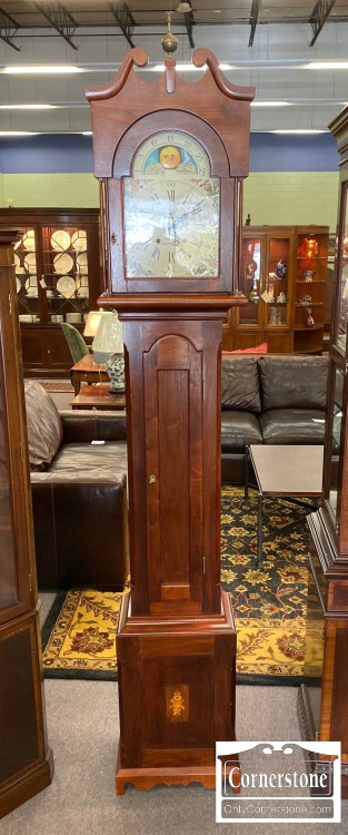 7225-2-James Platt Walnut Grandfather Clock