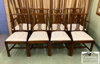 7230-1-Set of 8 Hickory Chair Sol Mah Chipp Chairs