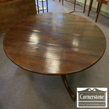 7230-2-Gains McHale Oak Round Rustic Table