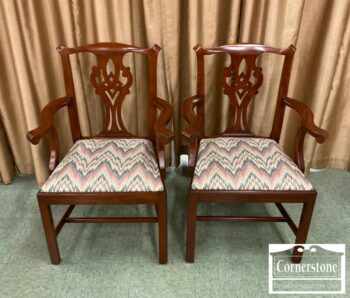 7277-1-Pr HH Sol Cher Chipp Arm Chairs