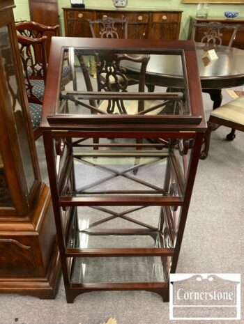 Mahogany Monticello Reproduction Library Stand