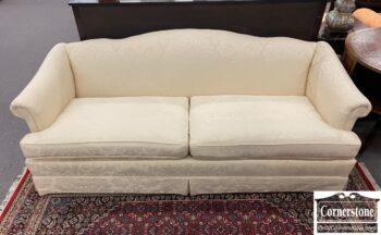 7316-3 - White Camelback Sofa