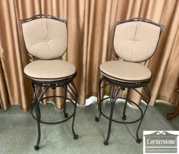 7331-4 - Pair of Contemp Iron Counter Stools