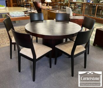 7365-1 - Arhous Cont Round Table 6 Chairs