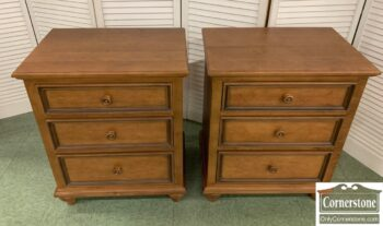 7417-3 - Pr EA Maple Distressed Bedside Chest