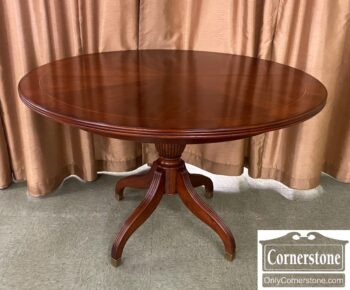 7424-58 - Banded Round Ped Table