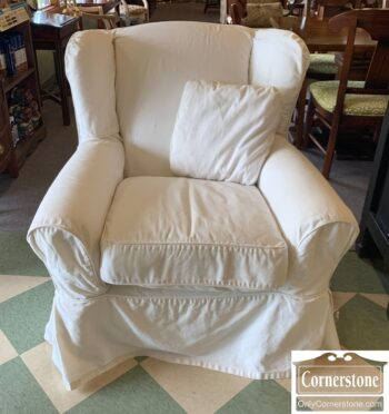 7436-8 - Mitchell Gold Contem White Uph Slouch Chair