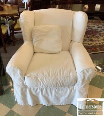 7436-9 - Mitchell Gold Contem White Uph Slouch Chair