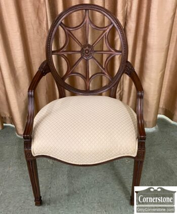 7439-22 - Ethan Allen Mah Spider Back Arm Chair