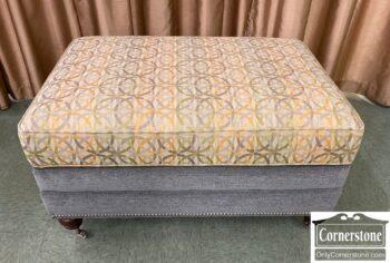 7441-14 - Bassett Cont Gray Ottoman