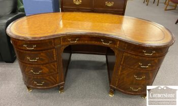 7449-11 - Maitland Smith Kidney Desk with Leather Top