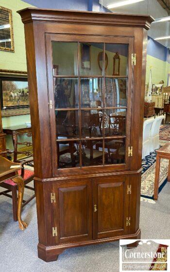 7449-5 - HH Sol Mah 12 Pane Corner Cabinet