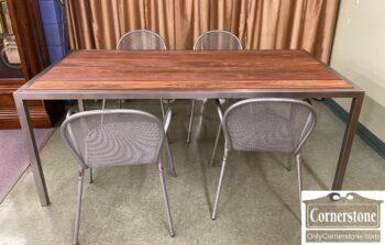 7459-12 - EMU Alum Tbl 4 Chairs Ronda