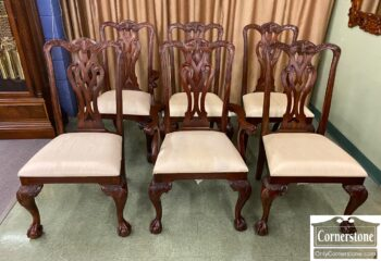 7469-3 - 6 Maitland Smith Mah Chipp Dining Chairs