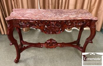 7469-5 - Credenza w Red Marble Top