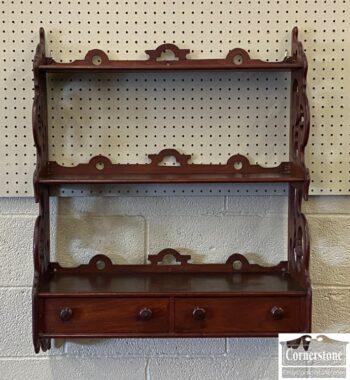 7556-4 - Walnut Victorian Hanging Shelf