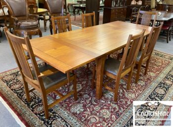 7567-1 - Stickley Sol Cher Prairie Sty Table 6 Chairs