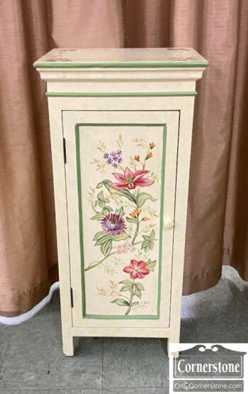 7579-6 - Paint Decorated 1 Door Cabinet