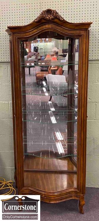 7626-197 - Fr Sty Cher Curio Serp Glass