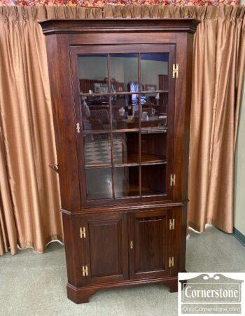 7626-301 - HH Sol Mah 12 Pane Corner Cabinet