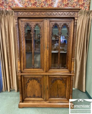 7626-317 - Tall Carved Bookcase