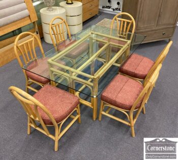 7626-393 - 7pc Bamboo Dinette