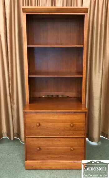7626-452 used ethan allen 2-drawer file bookcase