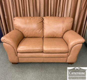 7626-456 - Modern Tan Leather Loveseat