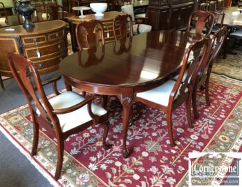 7626-532-Colonial Mfg Oval Tble 2Lvs 6 Chairs