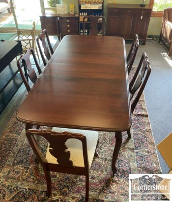 7626-585-Amish Made Tbl 3 Lvs 6 Chairs