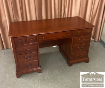 7626-608-Hooker Mfg Cherry Kneehole Desk
