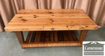 7628-20 - Industrial Pine Coffee Table