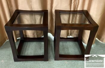 7628-22 - Pr End Tables Glass Inserts