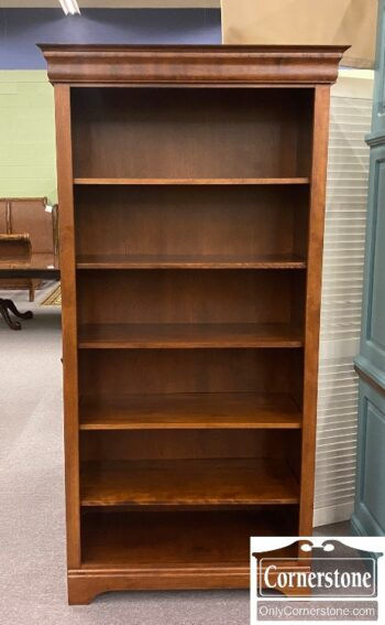 7628-40 - Tall Open Bookcase Cher Fin