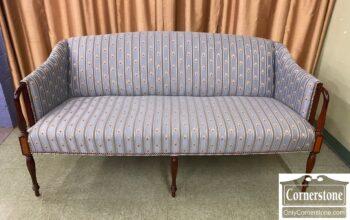 7630-1 - Federal Style Short Blue Sofa