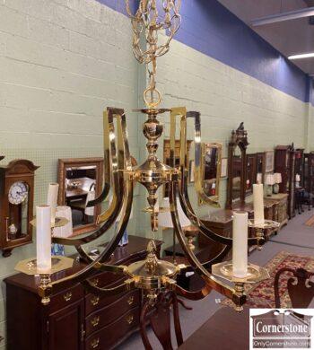 7643-2 - Brass Chandelier