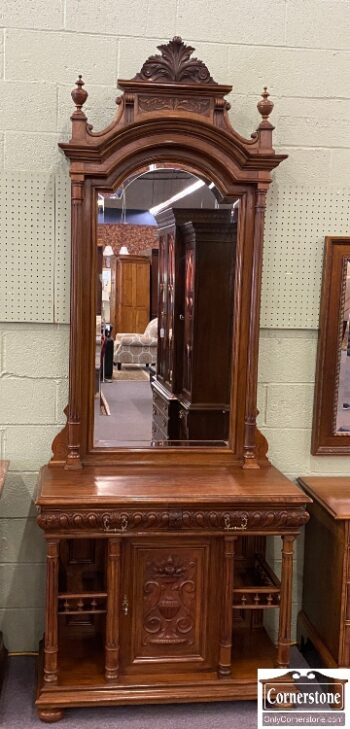 7651-1 - Cabinet Made Hall Stand Mirror
