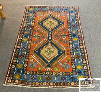7664-10 - Wool Hand Knotted Rug