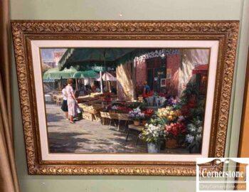 7671-14 - Flower Market Painting