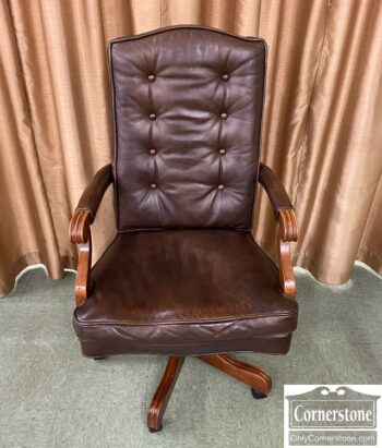 7720-1 - EA Brown Leather Exec Chair
