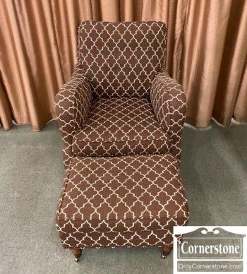 7731-10 - Sam Moore Brown Occ Chair Ottoman