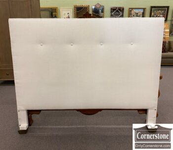 7732-1 - Wesley Hall White Linen K Headboard
