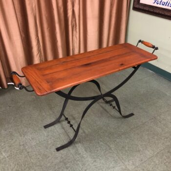 7739-16 Pine and Iron Tray Table Higher Angle-1