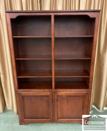 7741-1 - Amish Made Cher Fin Double Bookcase